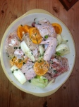 Chicken with clementines and fennel