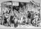 A butcher selling dog and cat meat during the siege of Paris (1870-1871).