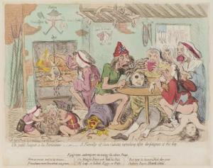 """Un Petit Souper à la Parisienne"" - James Gillray print of Jacobin cannibal supper"
