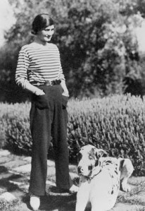 Coco Chanel in Breton stripes