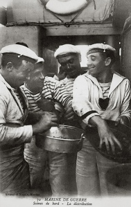 French Sailors in Breton Stripes