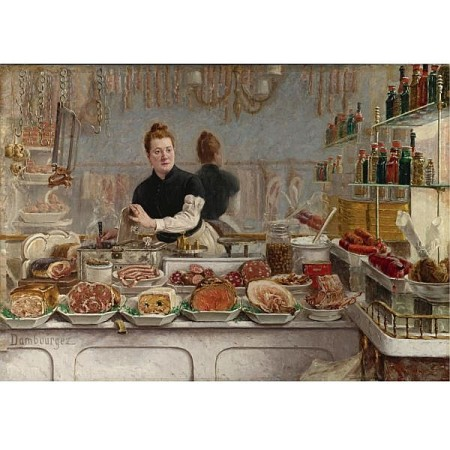 Edouard Jean Dambourgez - Une Boutique de Charcuterie (1873)
