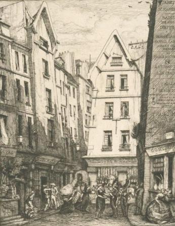 Rue Pirouette, by Charles Meryon (1860)