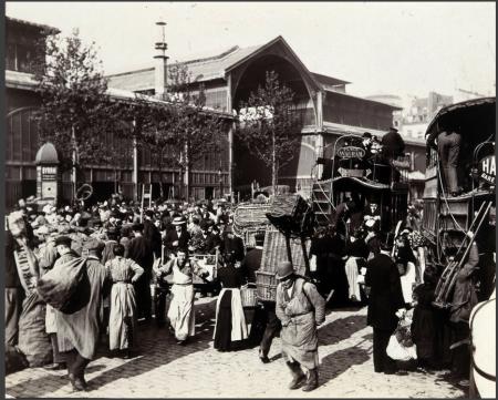 Les Halles de Paris, by Henri Lemoine (1900)
