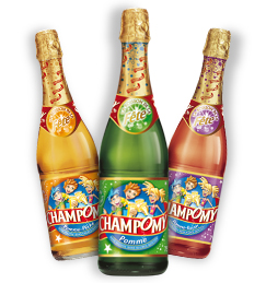 Champomy - sparkling fruit juice, like champagne for kids