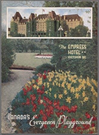 Empress Hotel Menu, 1937