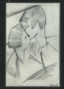 Thelma Wood pencil sketch