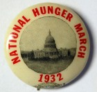 National Hunger March pin (1932)