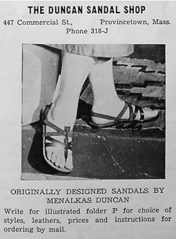 Ad for Menalkas Duncan store in Provincetown