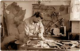 Roger Rilleau at work, 1947