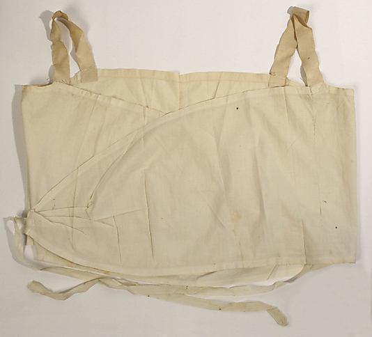 A bra following Polly's design, ca 1912, from the collection of the Metropolitan Museum of Art