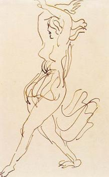 """Antoine Bourdelle, Isadora Duncan dans l'attitude dite du """"sursaut"""", vers 1909-11"""
