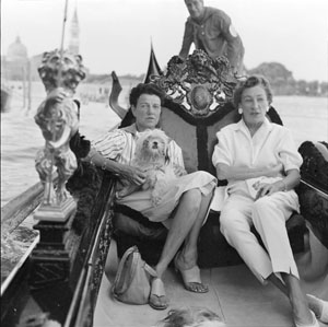 Caresse and Peggy Guggenheim in Venice