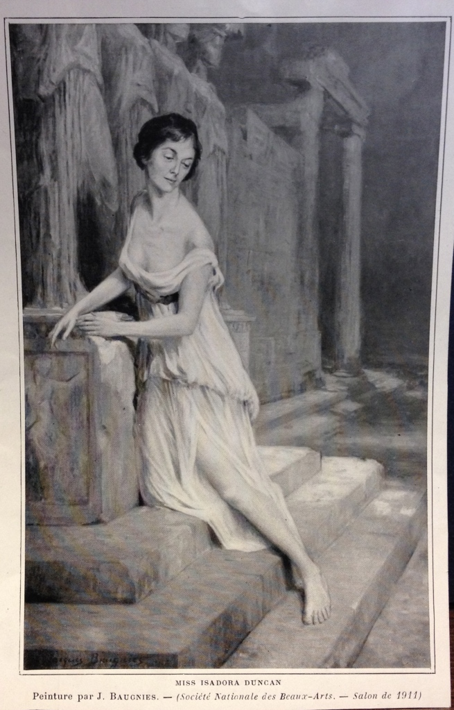 Miss Isadora Duncan by Jacques Baugnies, 1911