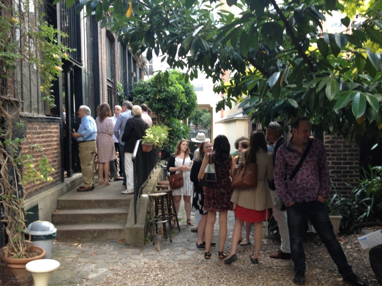 guests begin to assemble outside Jim Haynes' âtelier on a recent Sunday evening