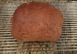 Graham Bread, ready to be sliced and buttered (not that he would have approved).