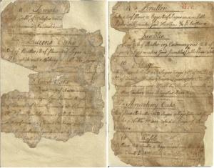 Maria Sanders Van Rensselaer's manuscript